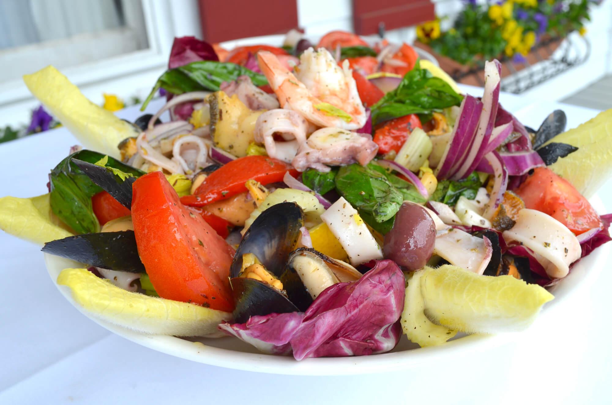 Seafood Salad iL Giardino Aquebogue by John Gambino